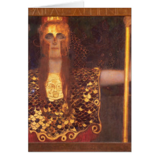 Tarjeta de nota de Gustavo Klimt Minerva Pallas At