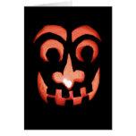 Tarjeta de nota de Halloween de la Jack-O-Linterna