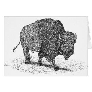 Tarjeta de nota de itinerancia del búfalo