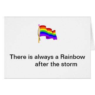 Tarjeta de nota de la bandera del arco iris