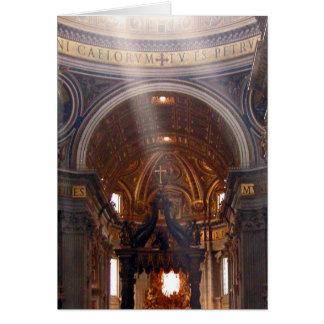 Tarjeta de nota de la basílica de San Pedro