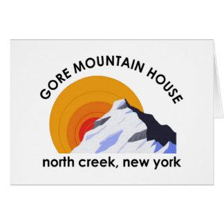Tarjeta de nota de la casa de la montaña de Gore