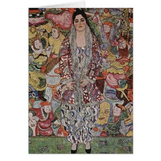 Tarjeta de nota de la cerveza de Gustavo Klimt Fre