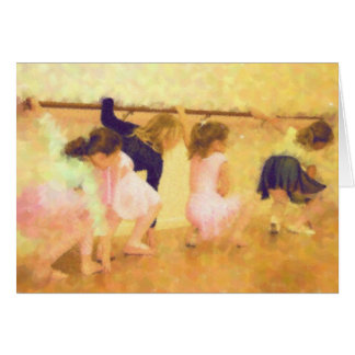 Tarjeta de nota de la clase de danza