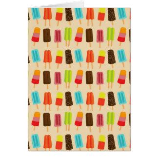Tarjeta de nota de la comida campestre del Popsicl