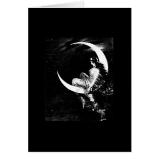 Tarjeta de nota de la diosa de la luna