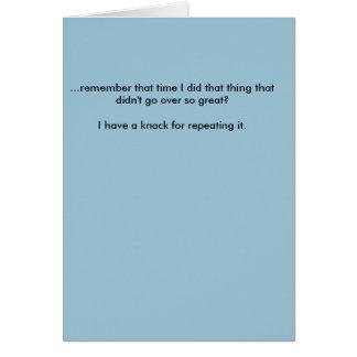 Tarjeta de nota de la disculpa - cortocircuito