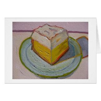 Tarjeta de nota de la empanada del limón