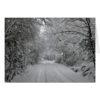 Tarjeta de nota de la escena de la nieve del invie