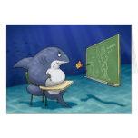 Tarjeta de nota de la escuela del tiburón