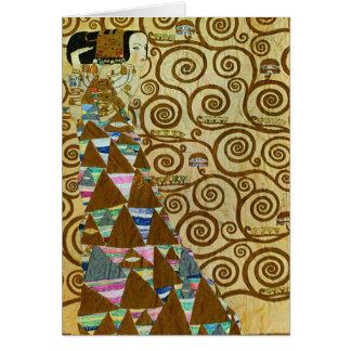 Tarjeta de nota de la expectativa de Gustavo Klimt
