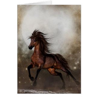 Tarjeta de nota de la fantasía del caballo de