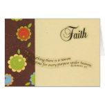Tarjeta de nota de la fe