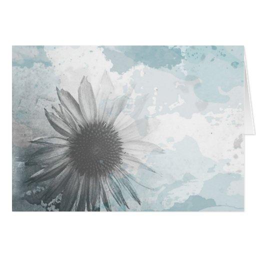 tarjeta de nota de la flor