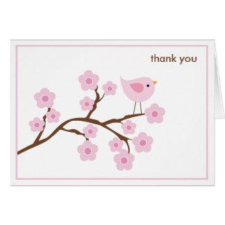 Tarjeta de nota de la flor de cerezo