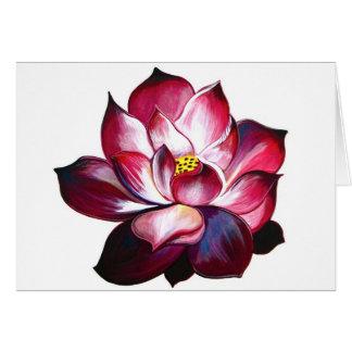 Tarjeta de nota de la flor de Lotus