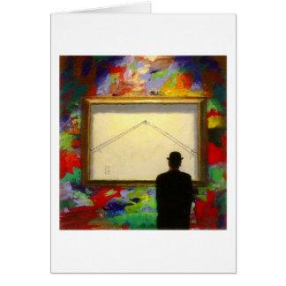 Tarjeta de nota de la galería de la pintura de par