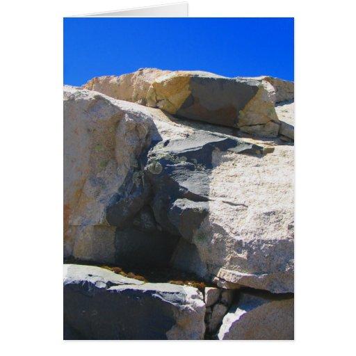 Tarjeta de nota de la geología del dique de la roc