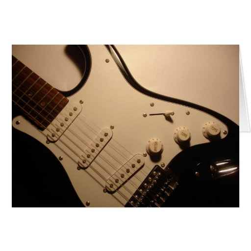 Tarjeta de nota de la guitarra eléctrica