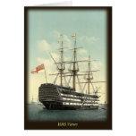 Tarjeta de nota de la HMS Victory