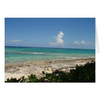 Tarjeta de nota de la isleta de Bahamas, en blanco