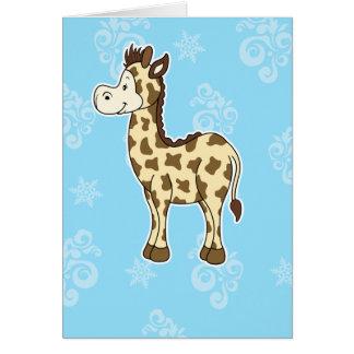 Tarjeta de nota de la jirafa