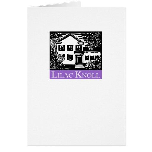 Tarjeta de nota de la loma de la lila