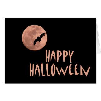 Tarjeta de nota de la luna de Halloween