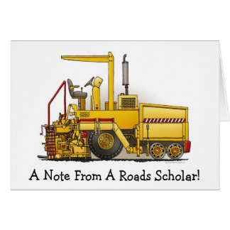 Tarjeta de nota de la máquina de pavimentación del