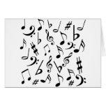Tarjeta de nota de la música