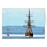 Tarjeta de nota de la nave de señora Washington