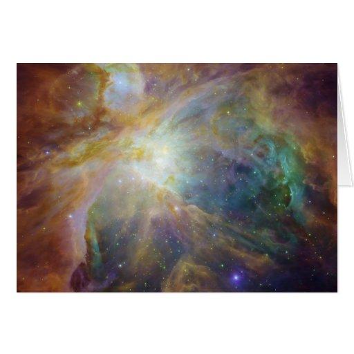 Tarjeta de nota de la nebulosa de Orión