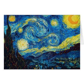 Tarjeta de nota de la noche estrellada de Van Gogh