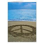Tarjeta de nota de la paz