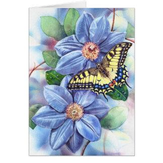 Tarjeta de nota de la pintura de Swallowtail