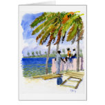 Tarjeta de nota de la playa de Nassau