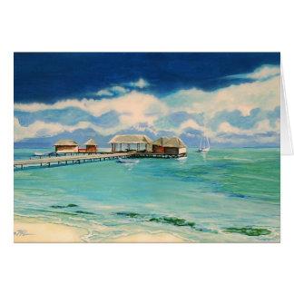 Tarjeta de nota de la playa del Caribe