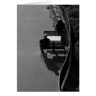 """Tarjeta de nota de la """"promenade"""" de Nueva York"""
