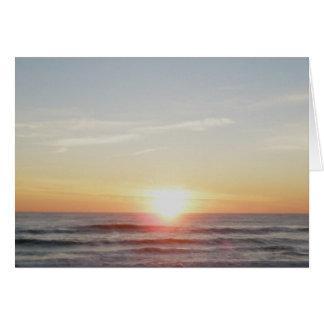 Tarjeta de nota de la puesta del sol de IBSP