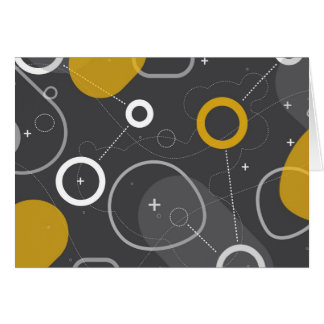 Tarjeta de nota de la raza del espacio