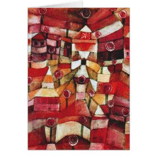 Tarjeta de nota de la rosaleda de Paul Klee