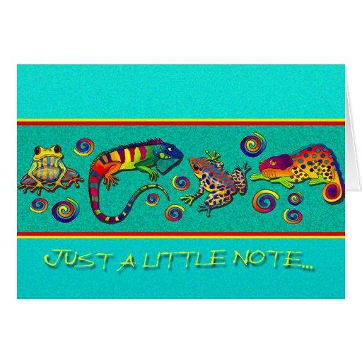 Tarjeta de nota de la selva tropical del arco iris