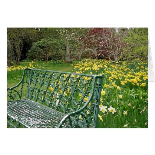 Tarjeta de nota de la silla de jardín