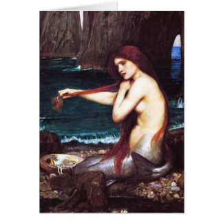 Tarjeta de nota de la sirena de John William Water