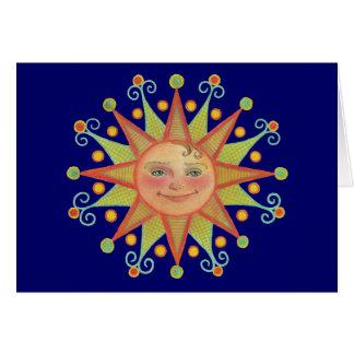 Tarjeta de nota de la sol