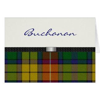 Tarjeta de nota de la tela escocesa de tartán
