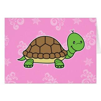 Tarjeta de nota de la tortuga