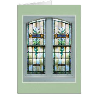 Tarjeta de nota de la ventana de la iglesia