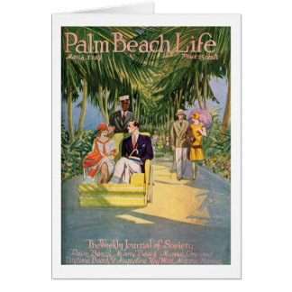 Tarjeta de nota de la vida 10 del Palm Beach