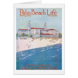 Tarjeta de nota de la vida 11 del Palm Beach